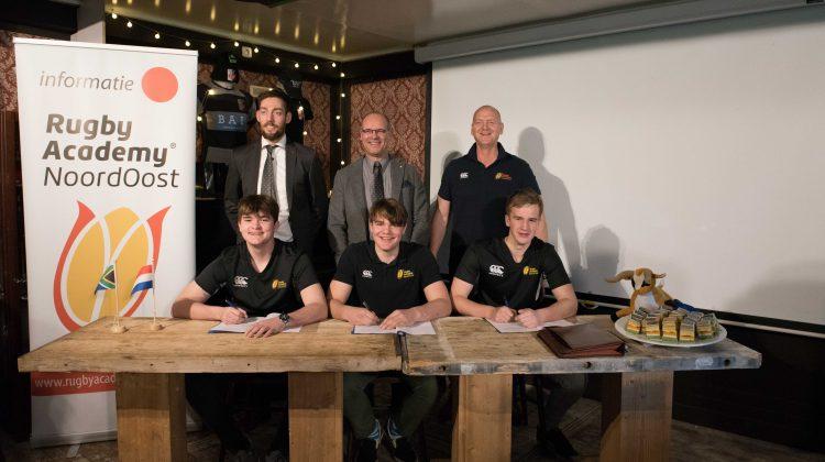 Drie spelers van Rugby Academy Noord Oost naar Zuid-Afrika voor uitwisselingsprogramma