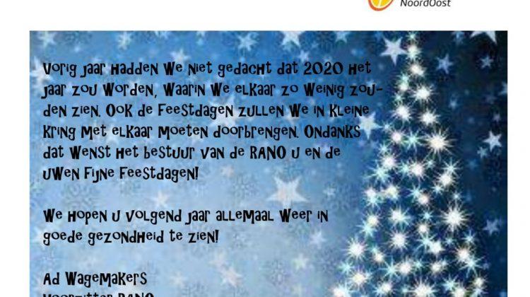 Nieuwsbrief RANO december 2020